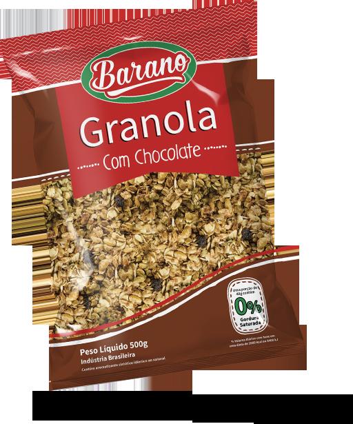 Granola Com Chocolate 500g Barano